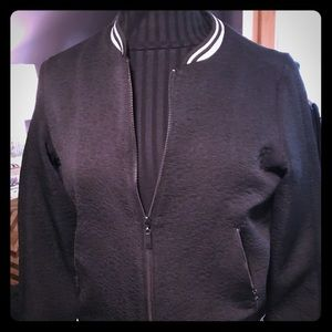 Lightweight black bomber jacket